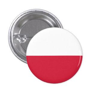Botón de la bandera de Polonia