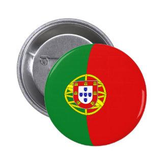 Botón de la bandera de Portugal Fisheye Pin Redondo De 2 Pulgadas