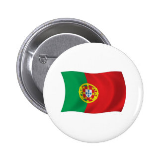 Botón de la bandera de Portugal Pins