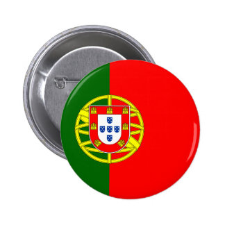 Botón de la bandera de Portugal Pin Redondo De 2 Pulgadas