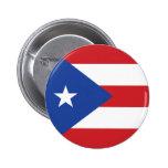 Botón de la bandera de Puerto Rico Pin Redondo De 2 Pulgadas