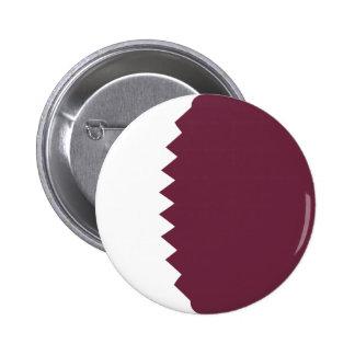 Botón de la bandera de Qatar Fisheye Pin Redondo De 2 Pulgadas