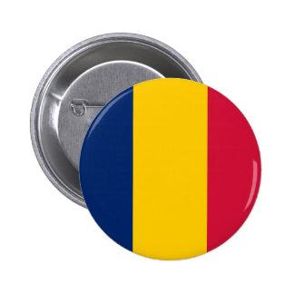 Botón de la bandera de República eo Tchad