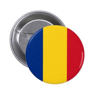 Botón de la bandera de Rumania Pin Redondo De 2 Pulgadas