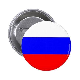 Botón de la bandera de Rusia Pin Redondo De 2 Pulgadas