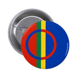 Botón de la bandera de Sami Pin Redondo De 2 Pulgadas