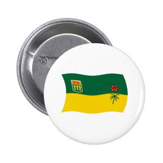 Botón de la bandera de Saskatchewan Pin Redondo De 2 Pulgadas