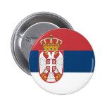 Botón de la bandera de Serbia