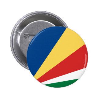 Botón de la bandera de Seychelles Pin