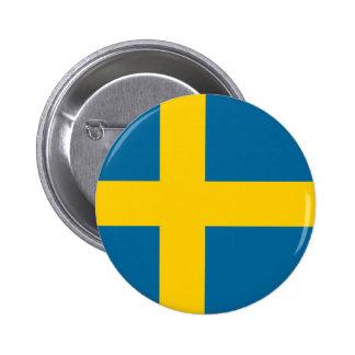 Botón de la bandera de Suecia Pins
