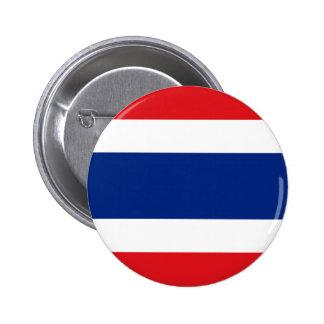 Botón de la bandera de Tailandia Pin Redondo De 2 Pulgadas