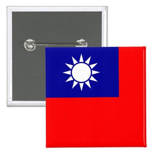 Botón de la bandera de Taiwán Pin