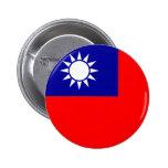 Botón de la bandera de Taiwán Pins