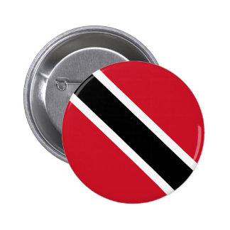 Botón de la bandera de Trinidad and Tobago Pin Redondo De 2 Pulgadas