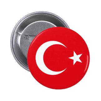 Botón de la bandera de Turquía Pin Redondo De 2 Pulgadas