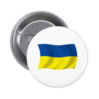 Botón de la bandera de Ucrania Pins