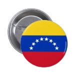 Botón de la bandera de Venezuela Pin Redondo De 2 Pulgadas