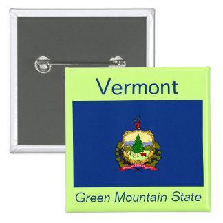 Botón de la bandera de Vermont
