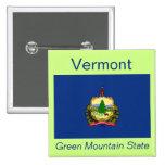 Botón de la bandera de Vermont Pins