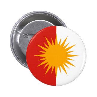 Botón de la bandera de Yezidi Pin Redondo De 2 Pulgadas