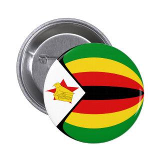 Botón de la bandera de Zimbabwe Fisheye Pin Redondo De 2 Pulgadas