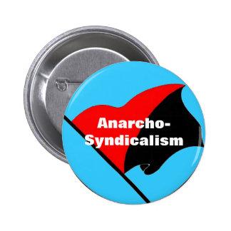 botón de la bandera del anarcho-sindicalismo pin redondo de 2 pulgadas