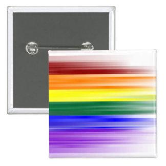 Botón de la bandera del arco iris (cuadrado) pins