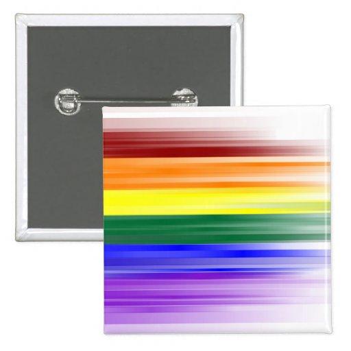 Botón de la bandera del arco iris (cuadrado) pin cuadrado