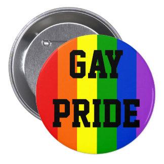 Botón de la bandera del arco iris del orgullo gay  pins
