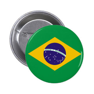 Botón de la bandera del Brasil Pin Redondo De 2 Pulgadas