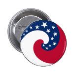 Botón de la bandera del círculo pin