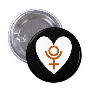 Botón de la bandera del corazón de Plutón