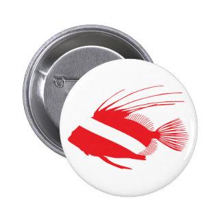 Botón de la bandera del equipo de submarinismo de  pin redondo de 2 pulgadas