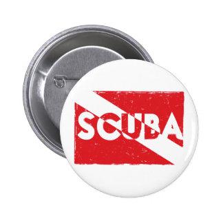 Botón de la bandera del equipo de submarinismo pin redondo de 2 pulgadas