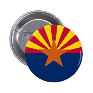 Botón de la bandera del estado de Arizona Pin Redondo De 2 Pulgadas