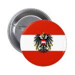 Botón de la bandera del estado de Austria Pin Redondo De 2 Pulgadas