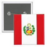 Botón de la bandera del estado de Perú