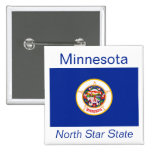 Botón de la bandera del Minnesotan Pins