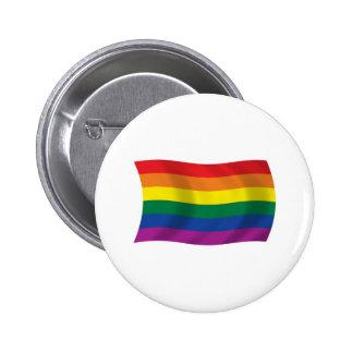Botón de la bandera del movimiento del orgullo gay pin