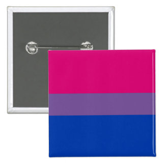 Botón de la bandera del orgullo del BI (cuadrado) Pin Cuadrado