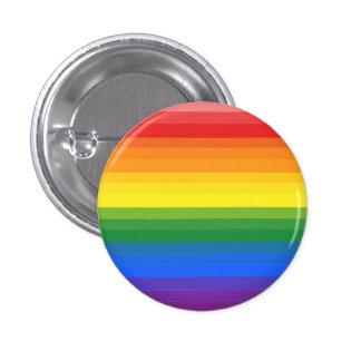Botón de la bandera del orgullo gay de la pin redondo de 1 pulgada