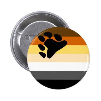 Botón de la bandera del oso pin redondo de 2 pulgadas