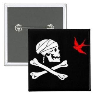 Botón de la bandera del pirata de Jack Sparrow Pin