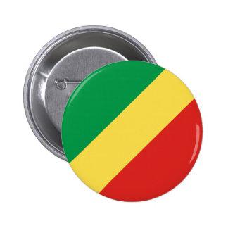 Botón de la bandera del República del Congo