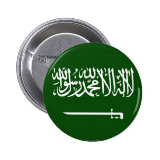 Botón de la bandera del saudí pin redondo de 2 pulgadas