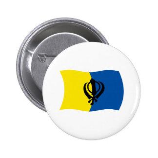 Botón de la bandera del Sikhism Pin Redondo De 2 Pulgadas