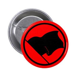 Botón de la bandera negra del anarquista pins