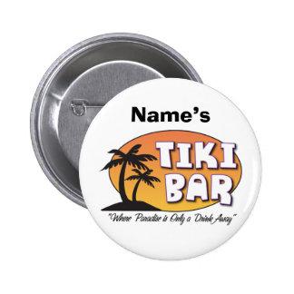 Botón de la barra de Tiki Pin Redondo De 2 Pulgadas