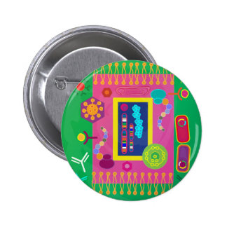 Botón de la biología pin