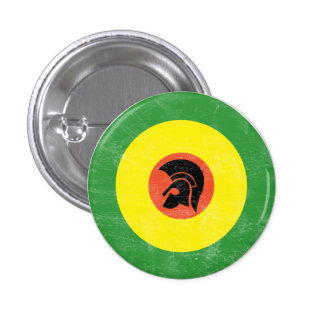 Botón de la blanco de la MOD de Jamaica Pin Redondo De 1 Pulgada